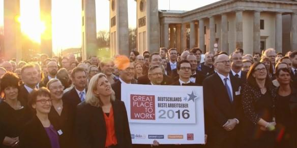 Great Place to Work - Beste Arbeitgeber vor Brandenburger Tor
